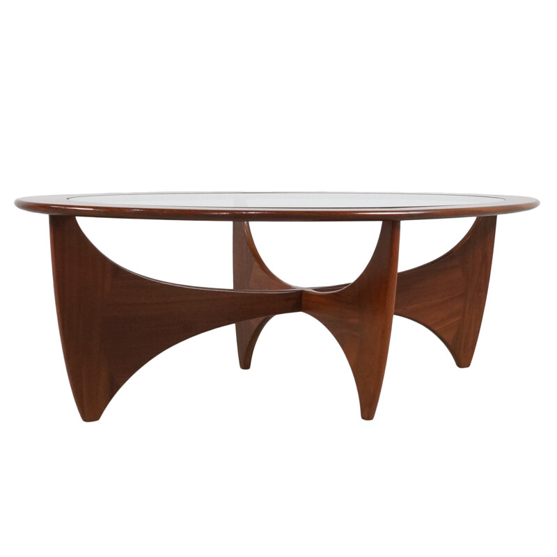 "G-Plan ""Astro"" teak oval Coffee Table, Victor WILKINS - 1960s"