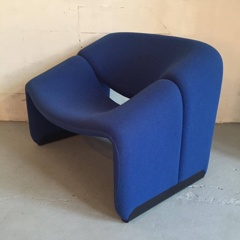 """Blue Artifort """"Groovy"""" Chair, Pierre PAULIN"""