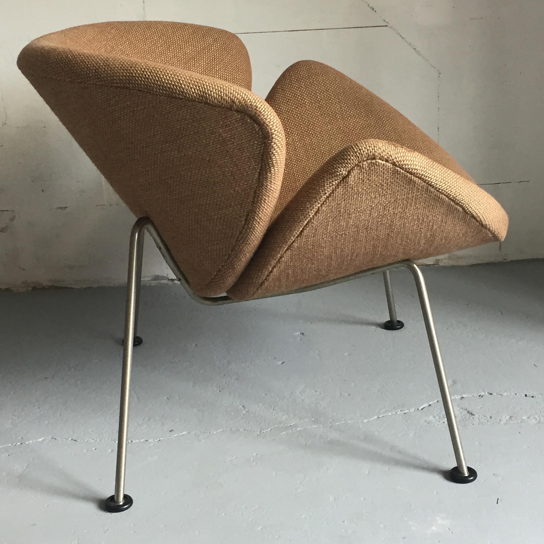 """Brown Artifort """"Orange Slice"""" Chair, Pierre PAULIN"""