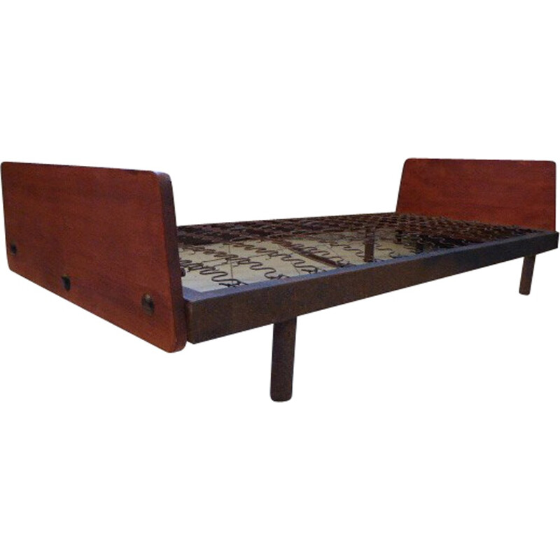 """SCAL"" bed n°452 in wood, Jean PROUVE - 1950s"