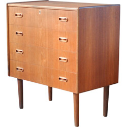 Small teak chest of drawers - 1960s