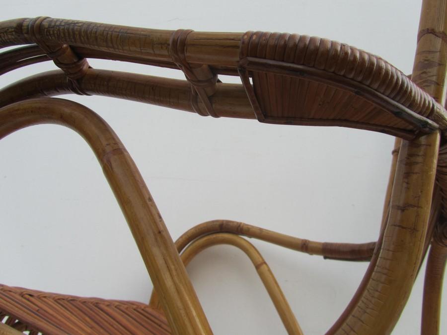 Vintage jonkers meubels rattan lounge chair dirk van sliedregt