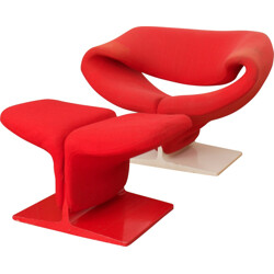 "Artifort ""Ribbon"" chair with ottoman, Pierre PAULIN - 1960s"