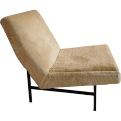 """642"" Steiner armchair in fabric and metal, ARP - 1955"