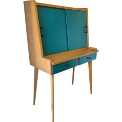 Desk in oak wood with removable tablet - 1950s