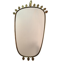 Mirror with gold leaf - 1960s