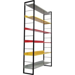 Dutch Tomado shelves in multicolored metal - 1960s