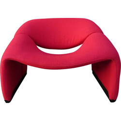 "Artifort ""Groovy"" F598 red armchair, Pierre PAULIN - 1970s"