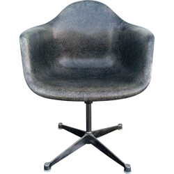 Vintage Herman Miller grey chair, Charles & Ray EAMES - 1950s