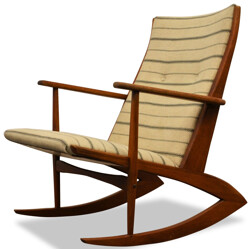 Danish Tønder Møbelvaerk rocking chair in teak, Søren Georg JENSEN - 1950s