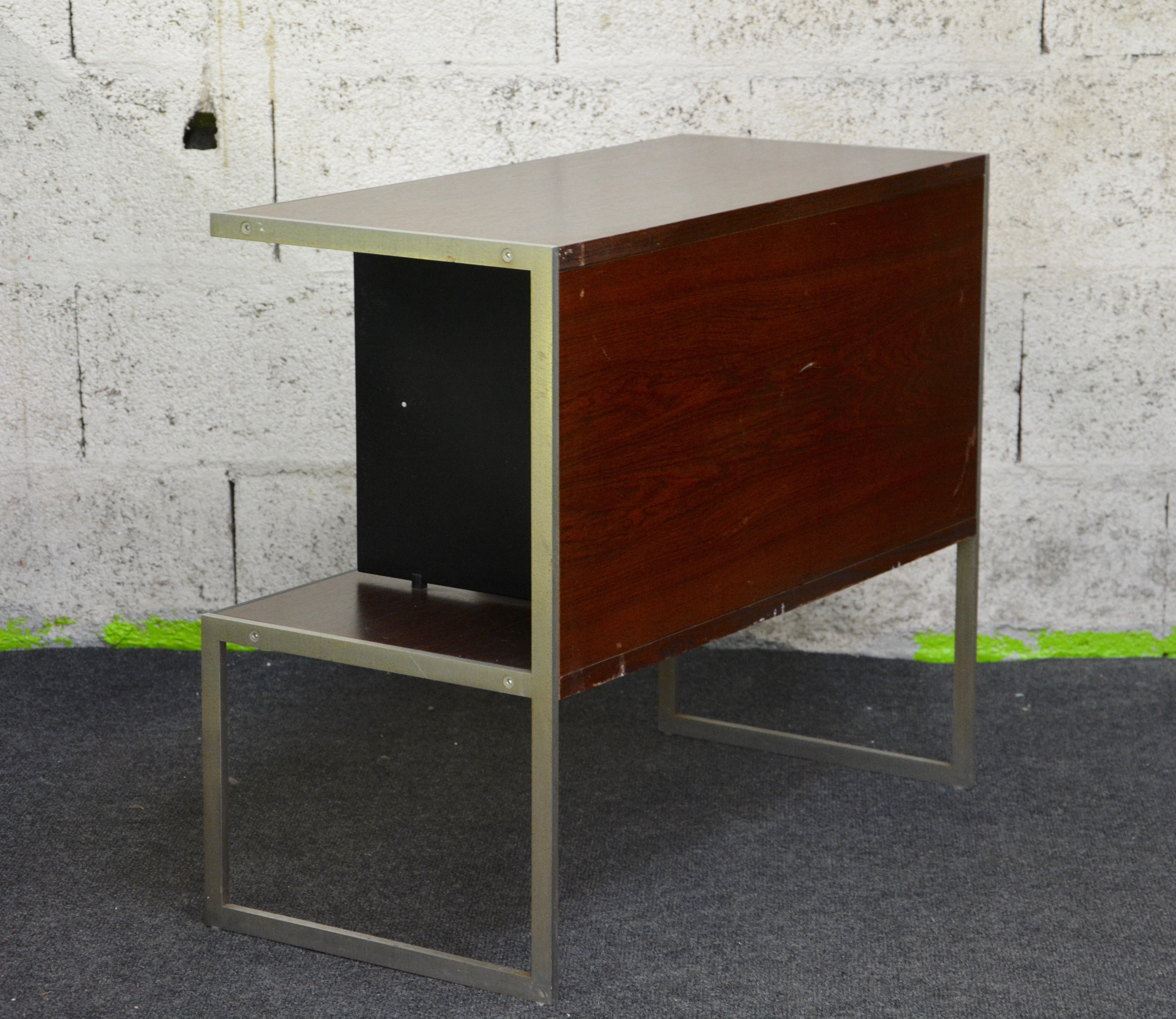 Pair of vintage danish rosewood and brushed steel side cabinets ref - Previous Next