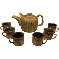 Danish Godtfrid drink set in pottery - 1970s