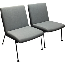"""Pair of Ahrend de Cirkel """"Oase"""" low chairs, Wim RIETVELD - 1950s"""