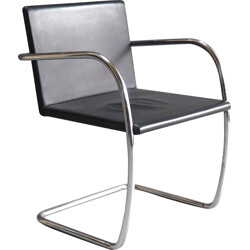 Tugendhat armchair in chromed metal and black metal, Mies VAN DER ROHE - 1930s