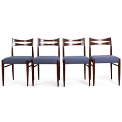 Set of four Danish dining chairs in rosewood - 1950s