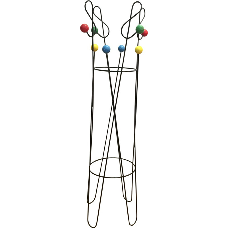 Metal coat rack, Roger FERAUD - 1950s