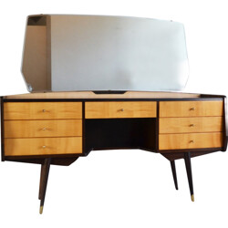 Dressing table in beech veneer - 1970s