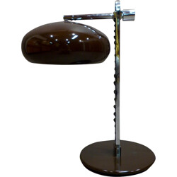 Large industrial table lamp in brown metal - 1960s