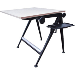 """Ahrend de Cirkel """"Reply"""" drawing table in plywood, Friso KRAMER & Wim RIETVELD - 1960s"""