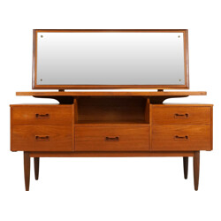 Danish dressing table in teak with mirror - 1960s