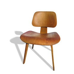 "Herman Miller ""DCW""chair in oak plywood, Ray & Charles EAMES - 1940s"