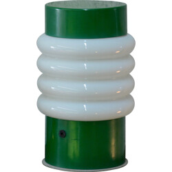 Lita table lamp in green lacquered metal and glass - 1960s