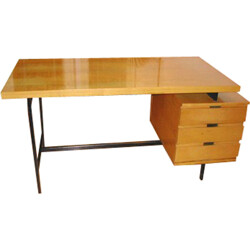 Minvielle mahogany desk, Pierre GUARICHE  - 1958