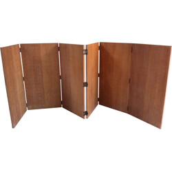 Windscreen in 6 parts in light oak - 1950s