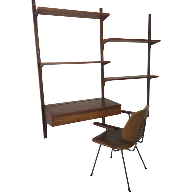 Danish Cado wall unit in teak, Poul CADOVIUS - 1960s