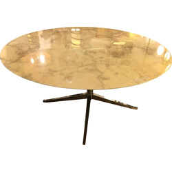 Knoll table in Arabescato marble, Florence KNOLL - 1975