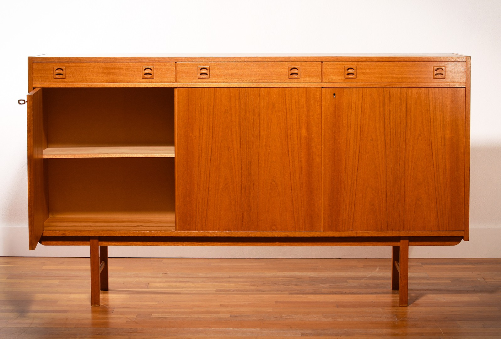 Ikea Red Credenza : Ikea sideboard in teak erik wortz s design market