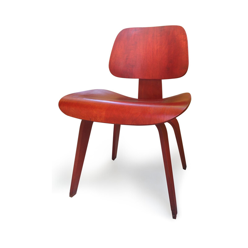 "Vintage Herman Miller ""DCW"" chair in plywood, Charles & Ray EAMES - 1950s"