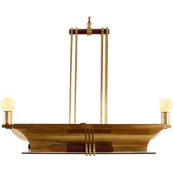 De Coene Art Deco chandelier in brass - 1930s