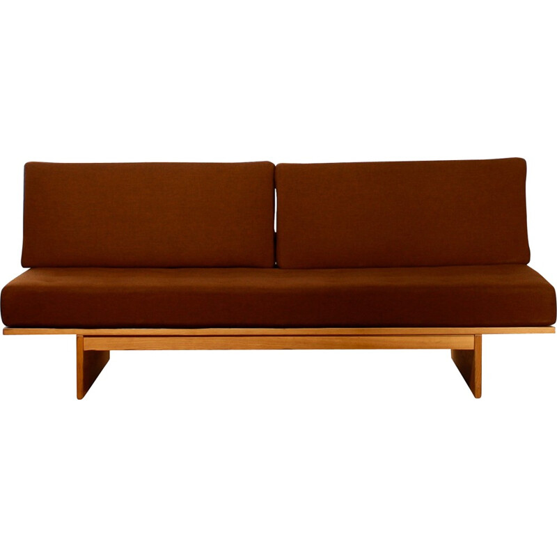 Daybed in oak and wool, Bra BOHAG - 1960s