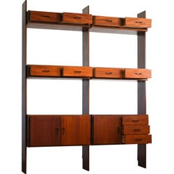 Simpla Lux wall system in teak - 1950s