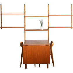 Wall-system including folding dining table, Poul CDOVIUS -  1950s