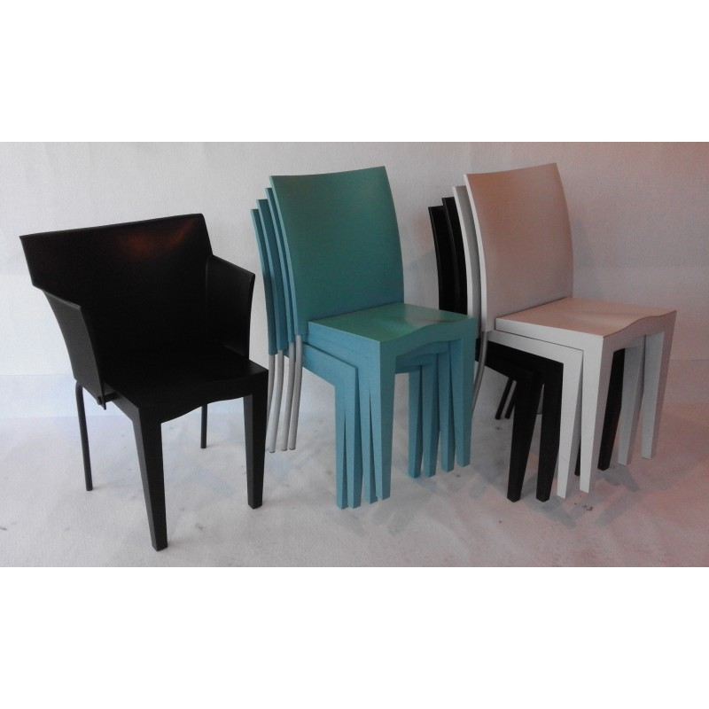 Set Of 8 Miss Global Chairs And 1 Superglob Armchair, Philippe STARCK    1980s   Design Market