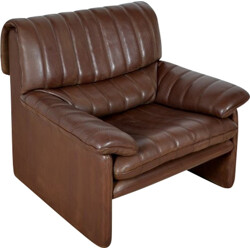 "De Sede ""DS-85"" armchair in brown leather - 1970s"