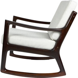 Rocking chair in rosewood, Ole WANSCHER - 1960s