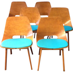 """Set of 6 Steiner """"Amsterdam"""" chairs, A.R.P. - 1954"""