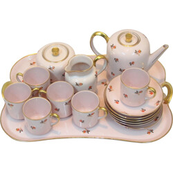 Jos. Guillaume de Anvers tea set in porcelain, Jean HAVILAND - 1940s