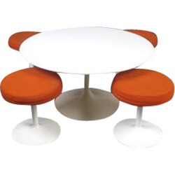 Tulip coffee table and 4 stools - 1970s