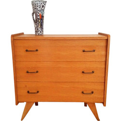 Small mid-century chest of drawers in oak - 1950s