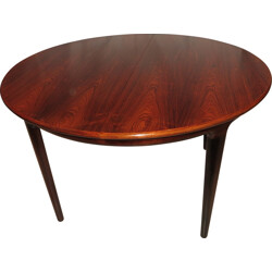 Large Scandinavian extendable table in Rio rosewood - 1960s