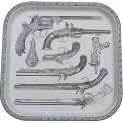 Tray in metal, Piero FORNASETTI - 1960s