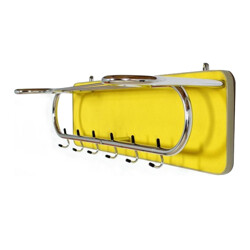 Yellow metal coat rack - 1950s