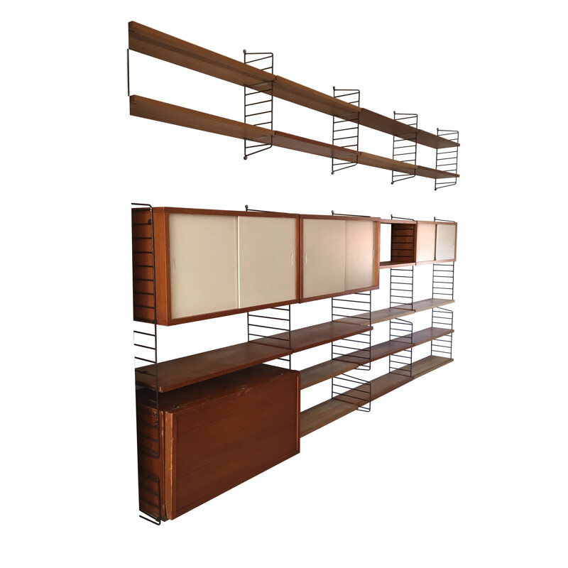 Large String Design AB Sweden shelving system by Nisse STRINNING - 1960s