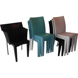 Set of 8 Miss Global chairs and 1 Superglob armchair, Philippe STARCK - 1980s