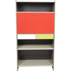 """Multicolored Gispen """"5600"""" cabinet in metal, A. R. CORDEMEYER - 1950s"""