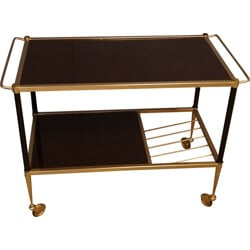 Serving trolley table in brass - 1950s